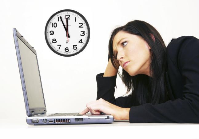 Woman Clock Computer